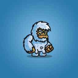 Cartoon Yeti - 2D Monster Character Sprite for Game
