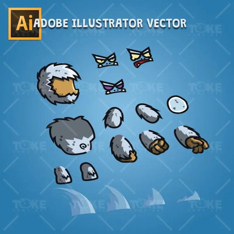 Cartoon Yeti - Adobe Illustrator Vector Art Based