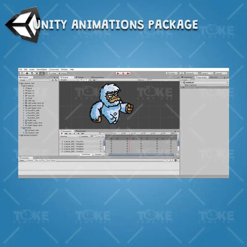 Cartoon Yeti - Unity Character Animation Ready