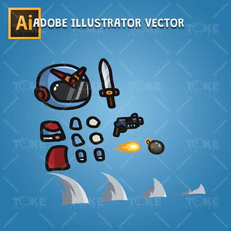 Tiny Ranger 01 - Adobe Illustrator Vector Art Based
