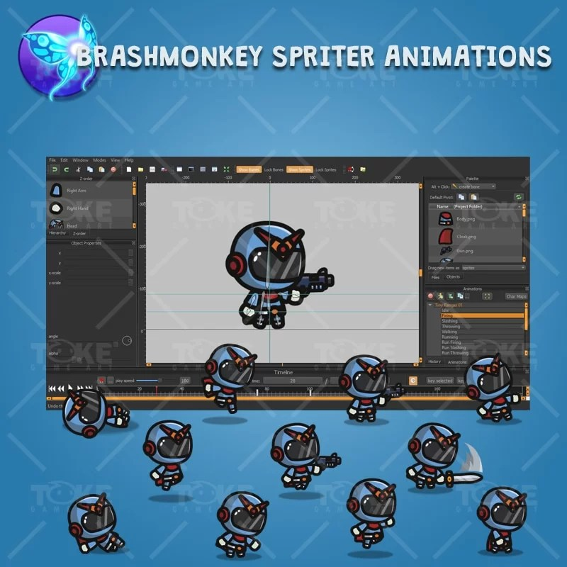 Tiny Ranger 01 - Brashmonkey Spriter Character Animation