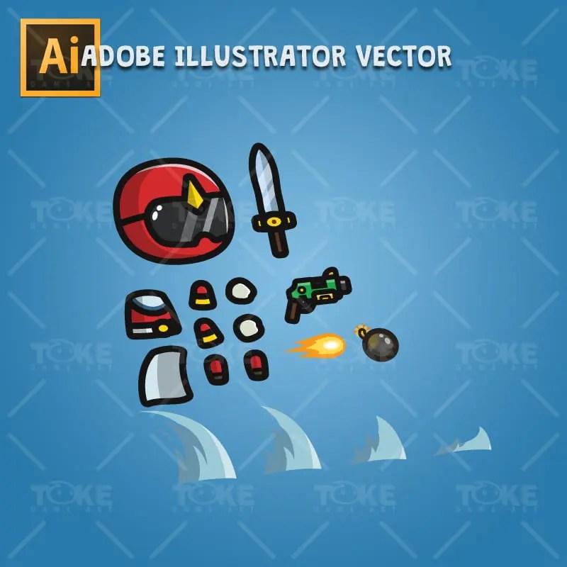 Tiny Ranger 02 - Adobe Illustrator Vector Art Based