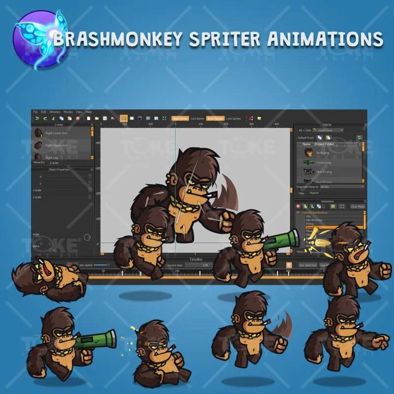 Cartoon Gorilla Boss - Brashmonkey Spriter Character Animation