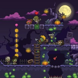 Cartoon Spooky Level Set