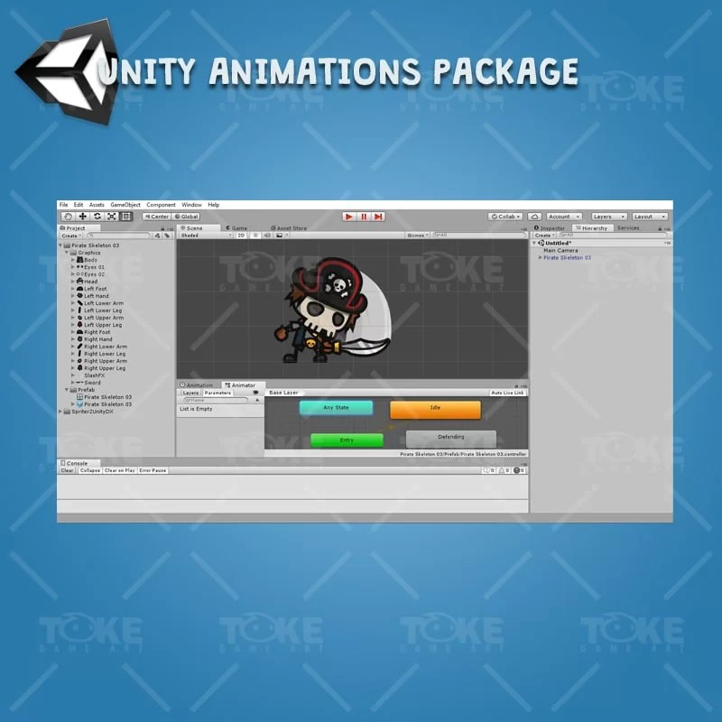 Pirate Skeleton - Unity Character Animation Ready