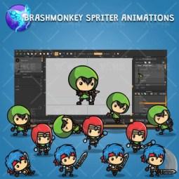 RPG Hero Character Pack - Brashmonkey Spriter Character Animation