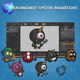 Cartoon Enemy Pack 03 - Brashmonkey Spriter Character Animation