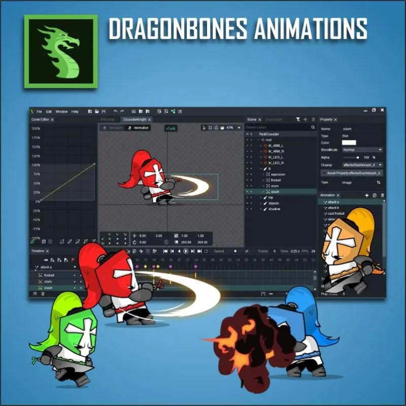 Chibi Crusader Knight - Dragonbones Animation