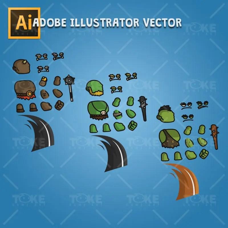 Ogre - Adobe Illustrator Vector Art Based Character