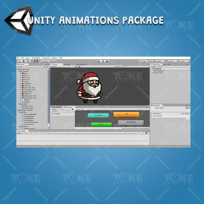 Santa Claus - Unity Character Animation Ready
