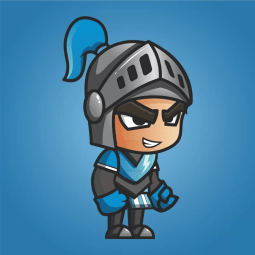 Blue Knight 2D Game Character Sprites