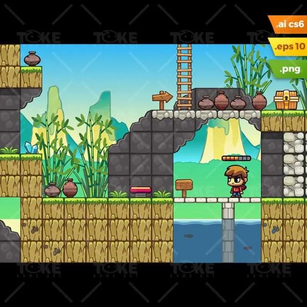 Platformer Game Maker Tilesets - Year of Clean Water