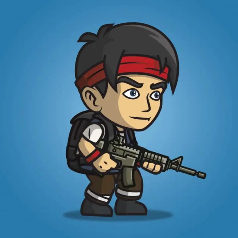 Urban Army Squad - Red Headband