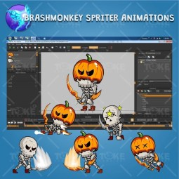 Skeleton Pack Game Character Sprite - Brashmonkey Spriter Character Animation