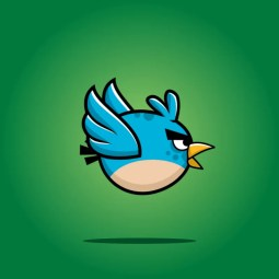 Blue enemy bird - 2D Character Sprite