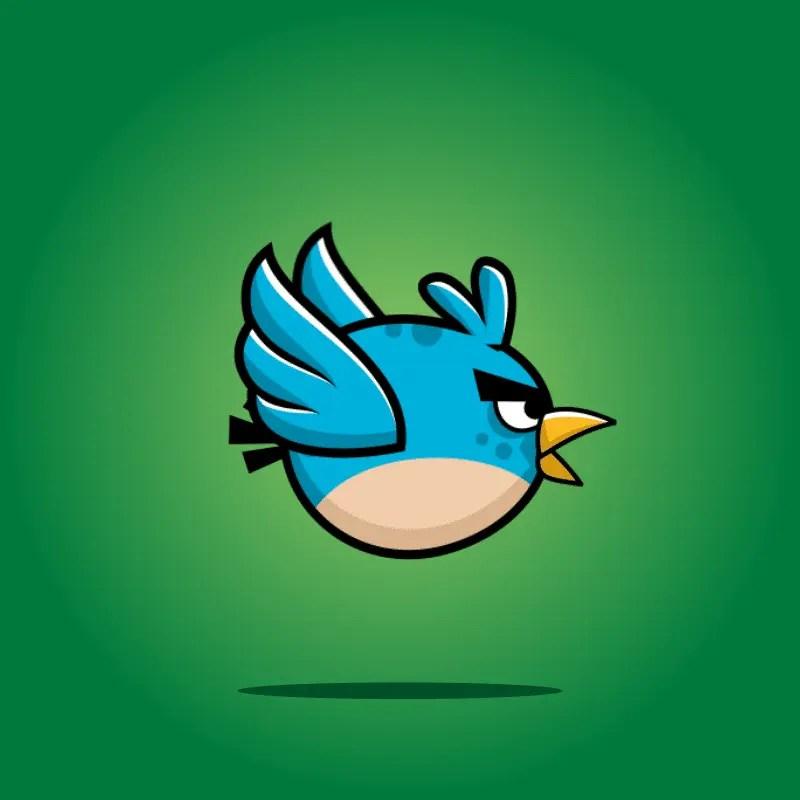 Blue enemy bird - 2D Character Sprite