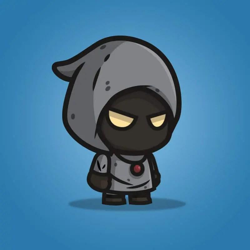 Black Wizard - 2D Character Sprite