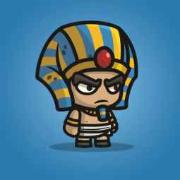 Egyptian Sentry - 2D Character Sprite for Indie Game Developer