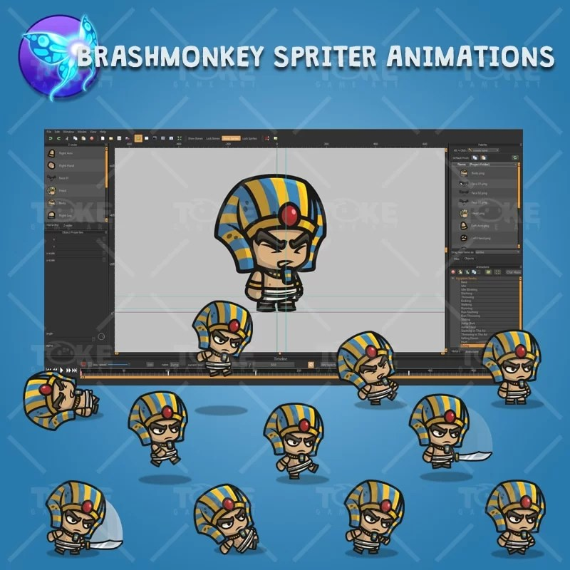 Egyptian Sentry - Brashmonkey Spriter Character Animations