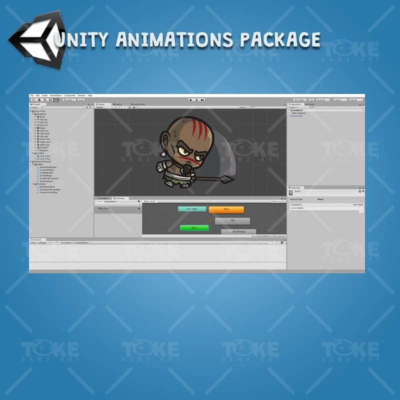 Inca Tribe - Unity Character Animation with Spriter2UnityDX Tool