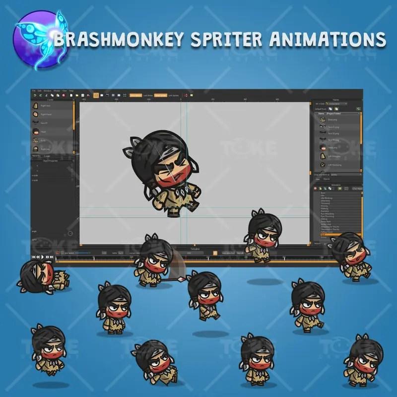 Indian Tribe Knight - Brashmonkey Spriter Character Animations