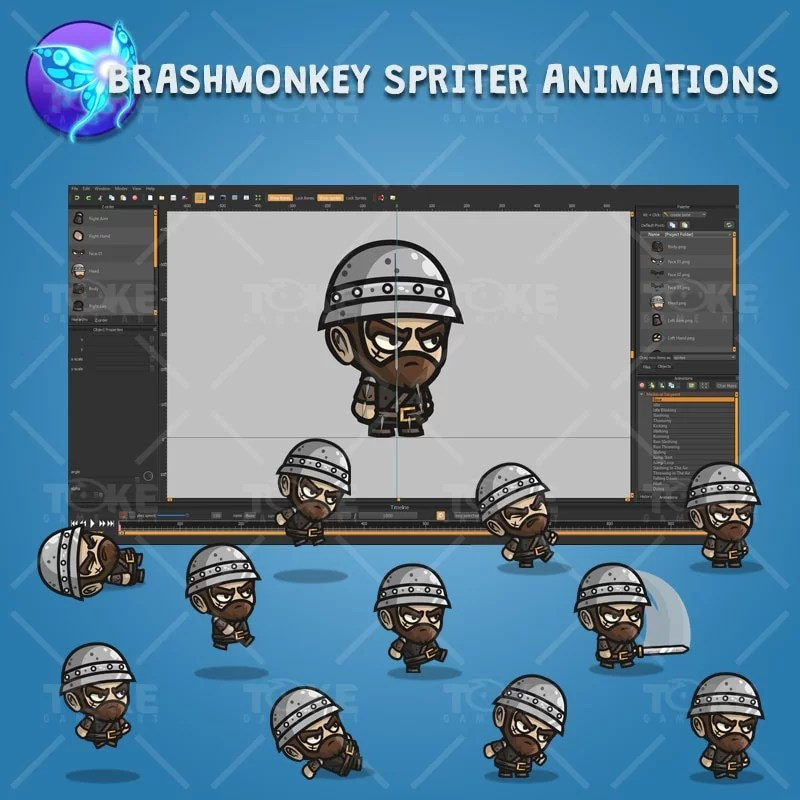 Medieval Sergeant - Brashmonkey Spriter Character Animations