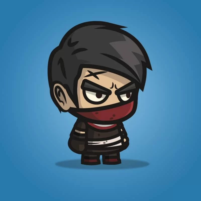 Medieval Thug - 2D Character Sprite for Indie Game Developer