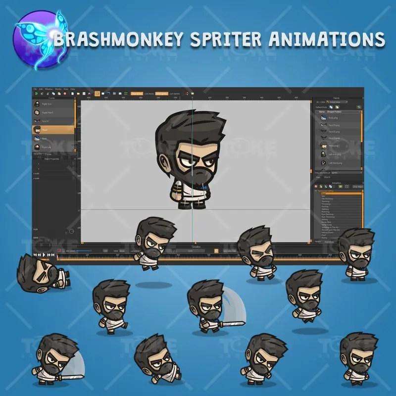 Romanian Settler - Brashmonkey Spriter Character Animations