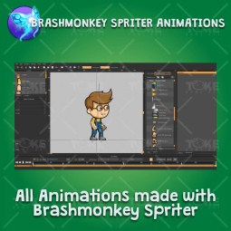 Geek Boy 2D Game Character Sprite - Brashmonkey Spriter Character Animations