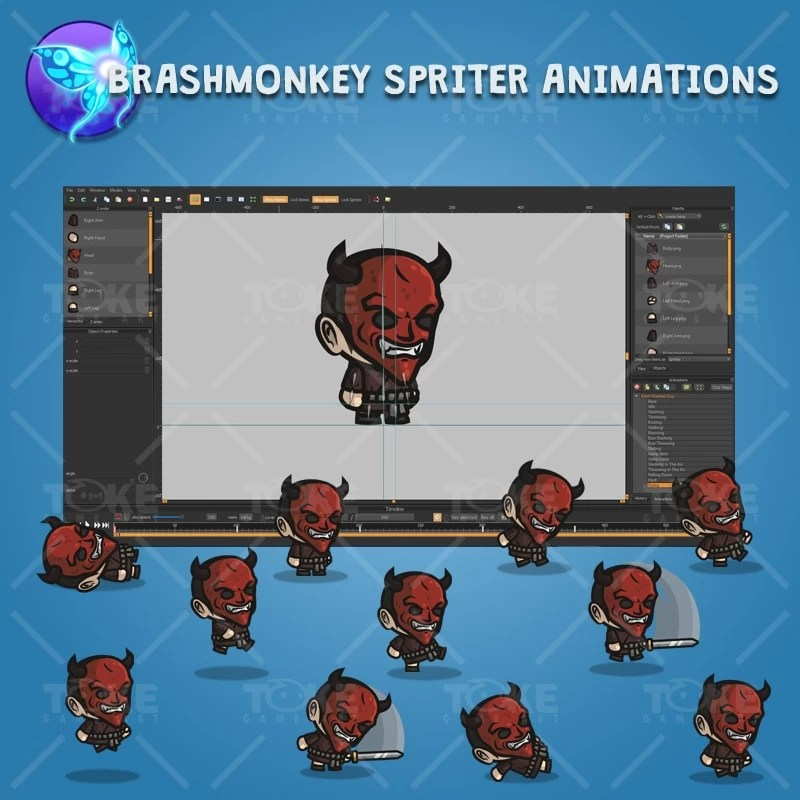 Devil Masked Guy - Brashmonkey Spriter Character Animations