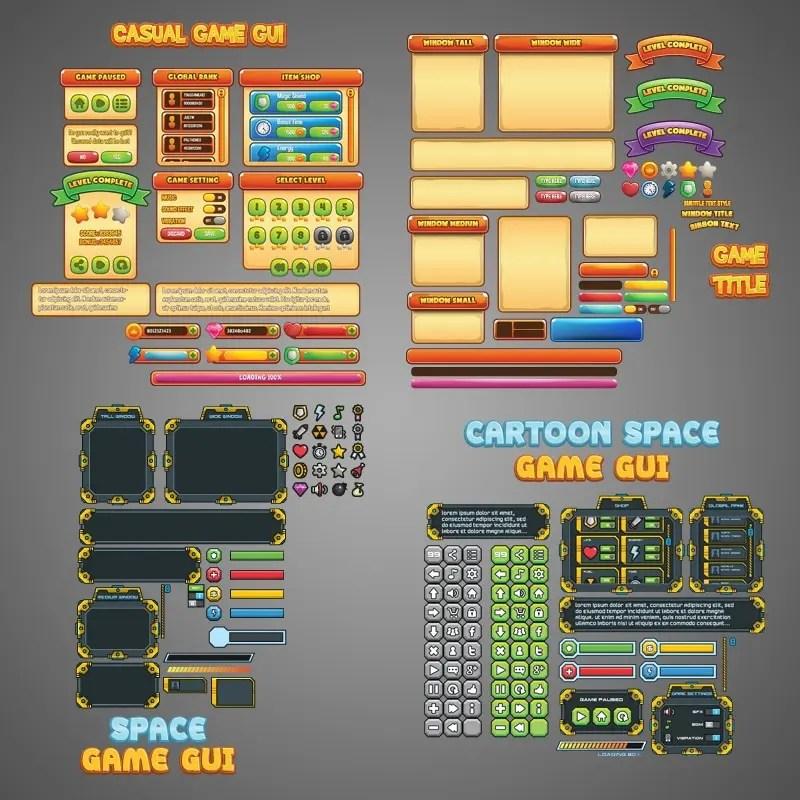 2D Game Art Bundle - Game GUI Bundle