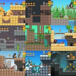 2D Platformer Game Tileset Mega Bundle - Sidescroller Mobile Games