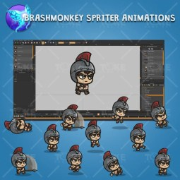 Spartan Knight with Spear - Brashmonkey Spriter Character Animations