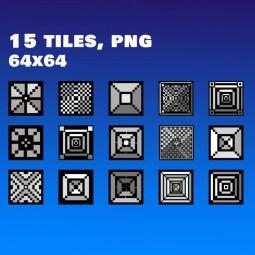 Black and White Tileset - 2D Retro Styled Game Platformer