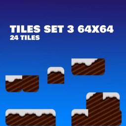 Snowy Platformer Pixel Art - 2D Game Tileset