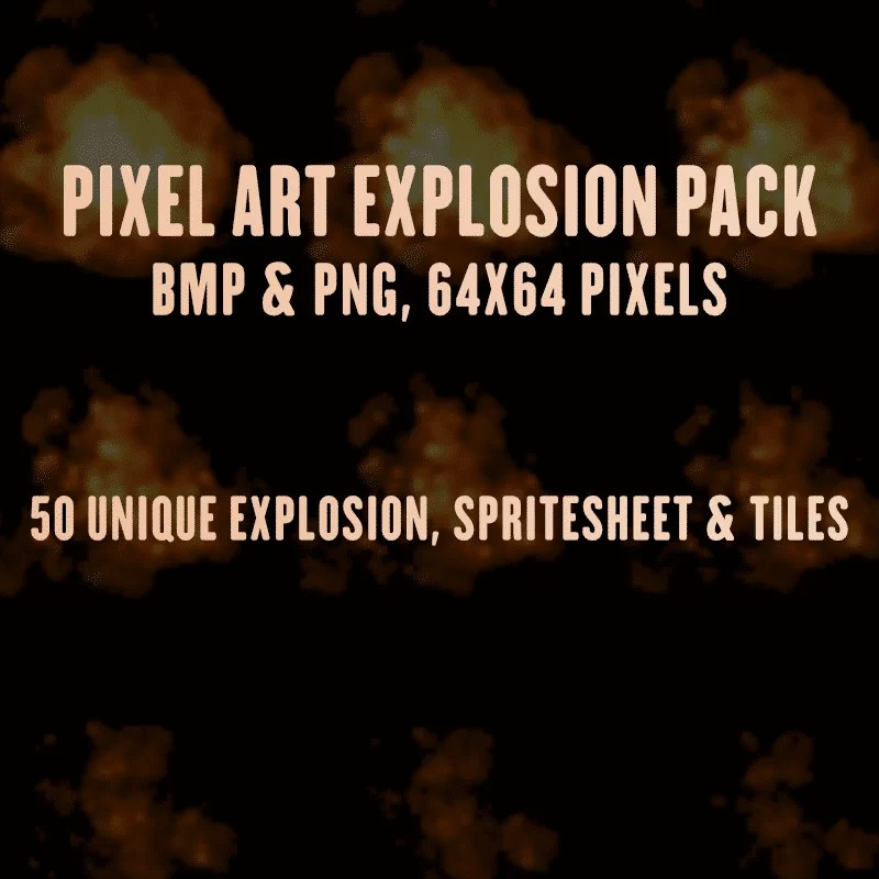 Pixel Art Explosion Pack - Game Visual Effect