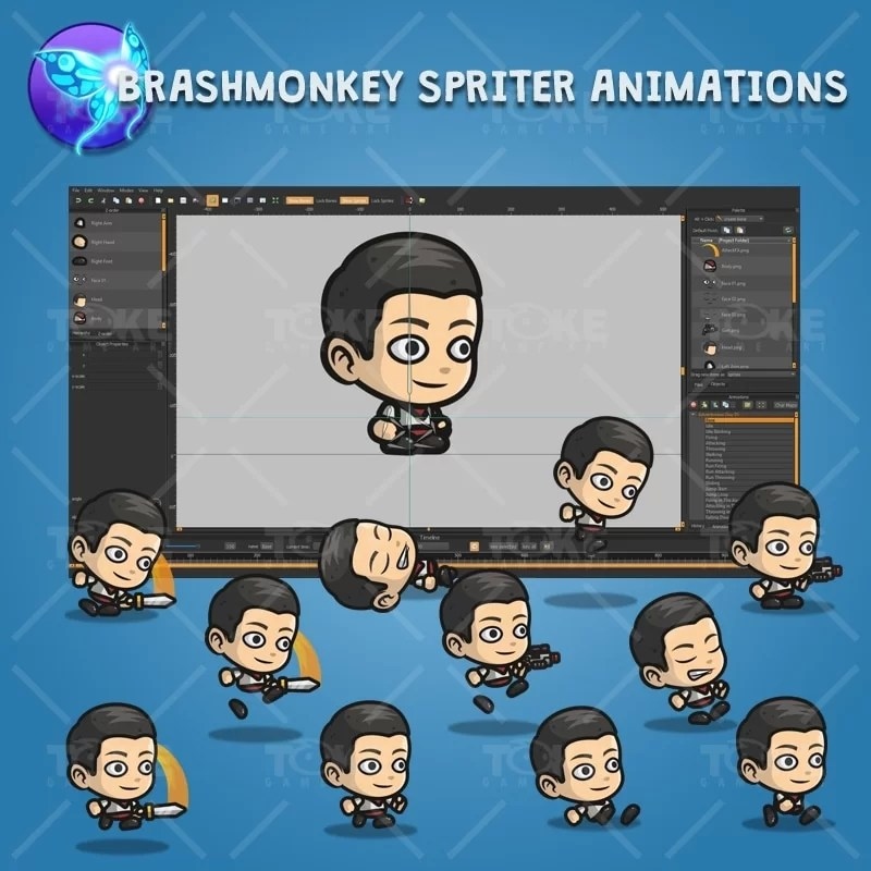Adventurous Guy 01 - Brashmonkey Spriter Character Animations