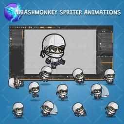 White Ninja - Brashmonkey Spriter Character Animations