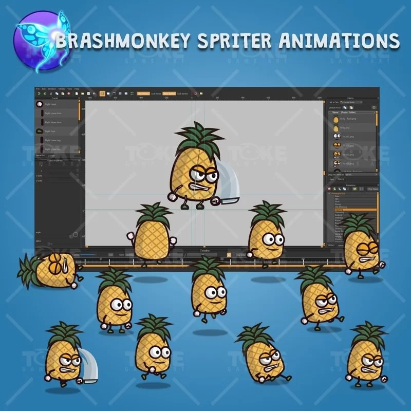 Pineapple Guy - Brashmonkey Spriter Character Animations
