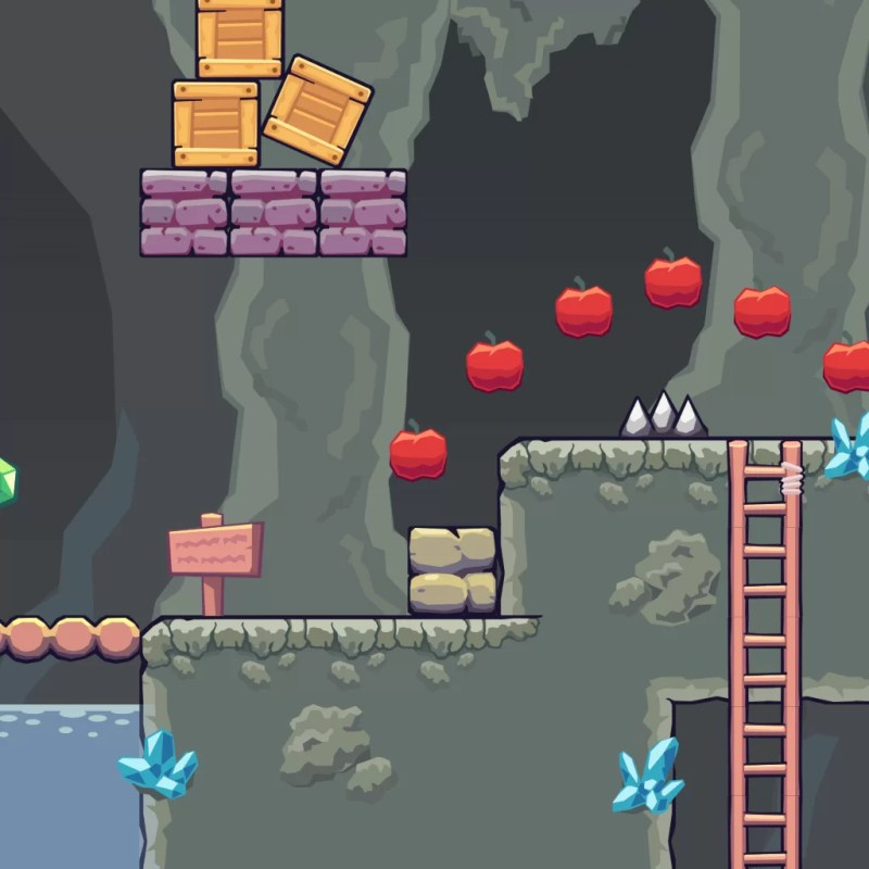Rocky Cave Area - 2D Game Tileset