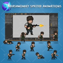 Big Gunner Guy - Brashmonkey Spriter Charcater Animation