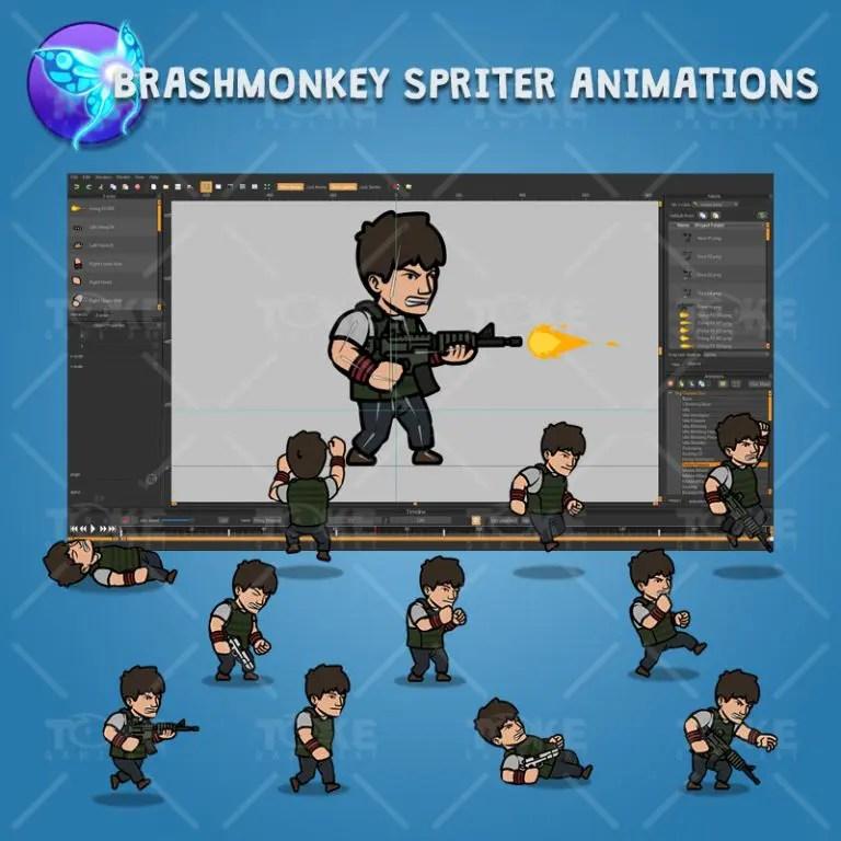 Big Gunner Guy - Brashmonkey Spriter Charcater Animation