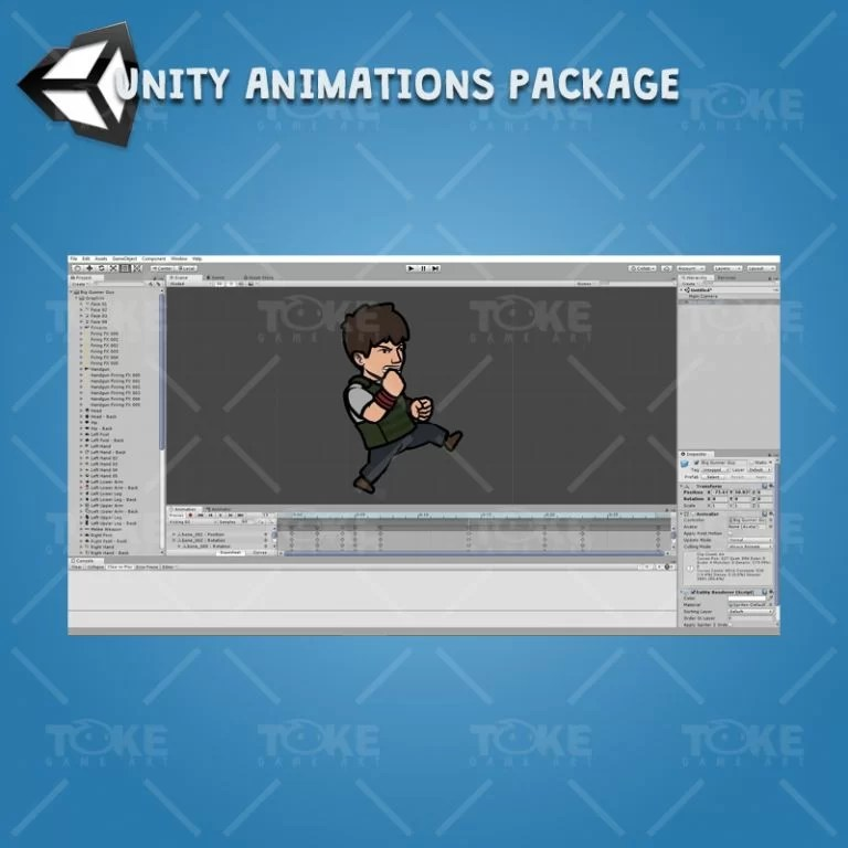 Big Gunner Guy - Drag and Drop Unity Charcater Animation Package with Spriter2UnityDX Tool