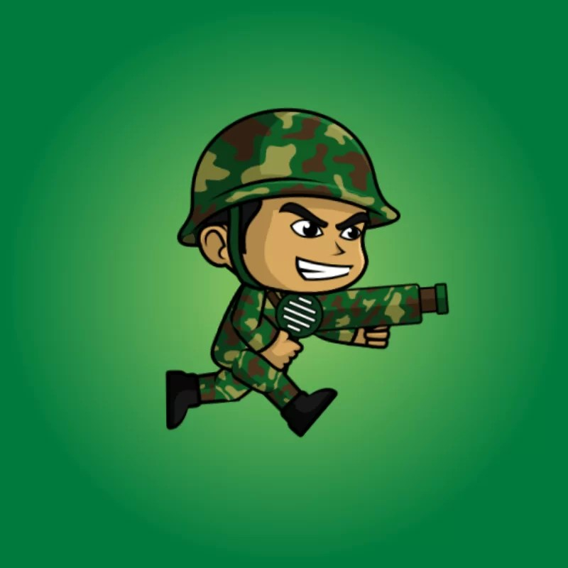 Green Soldier - 2D Character Sprite