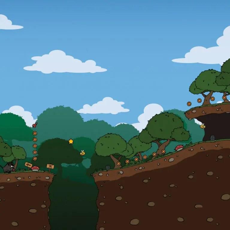 Cartoon Rainforest - 2D Sidescrolling Game Tileset