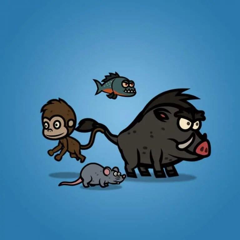 Cartoon Enemy Pack 04 - 2D Animal Character Sprite
