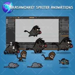 Cartoon Enemy Pack 04 - Brashmonkey Spriter Character Animations