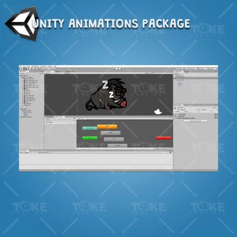 Cartoon Enemy Pack 04 - Unity Character Animation Package Ready with Spriter2UnityDX Tool