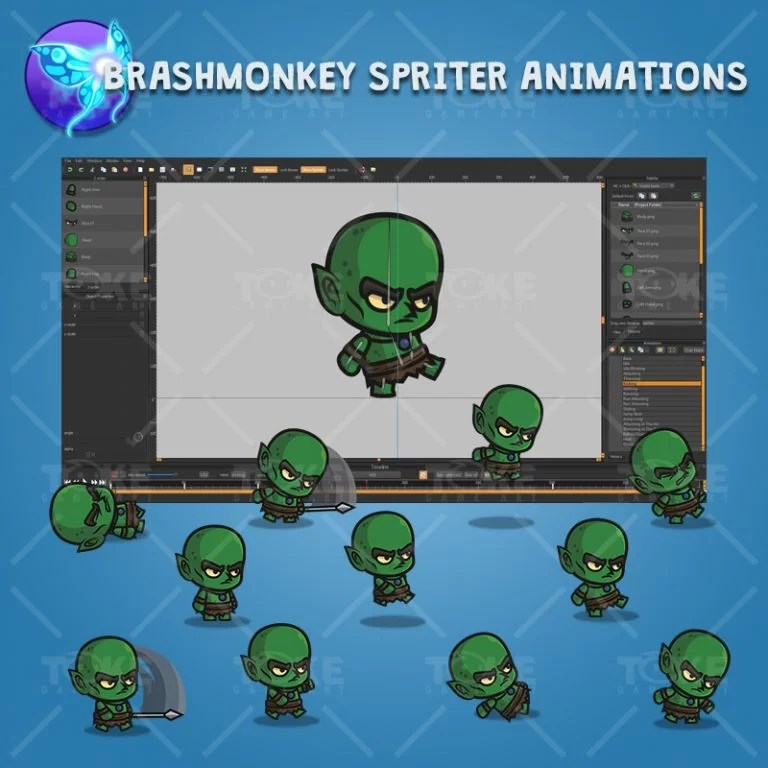 Evil Goblin - Brashmonkey Spriter Character Animations