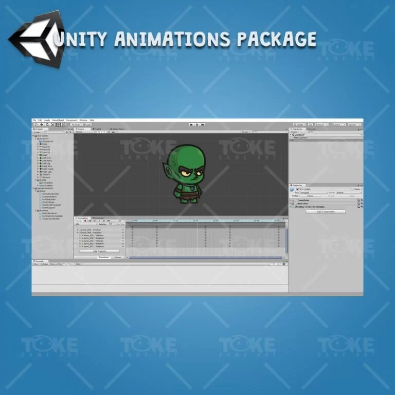 Evil Goblin - Unity Character Animation Package Ready with Spriter2UnityDX Tool